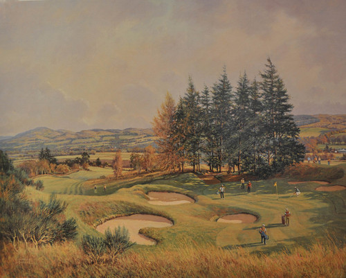 The 14th, Gleneagles, Kings Course by Donald Shearer