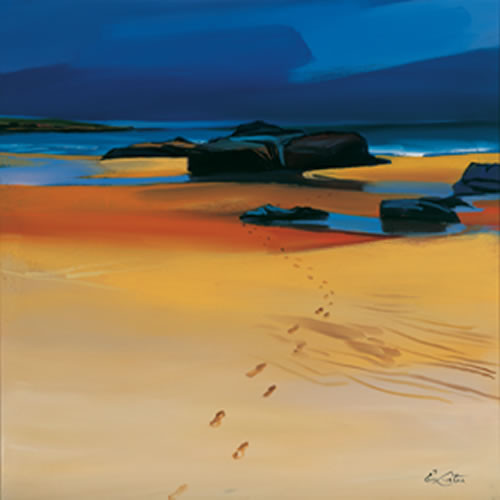 Footsteps and Orange Sands, Montrose Bay by Pam Carter
