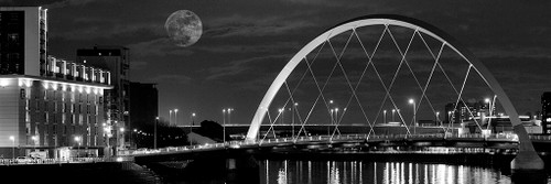 Squinty Bridge, Glasgow a Black and White Photographic Print