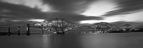 Forth Road Bridge, Edinburgh a Black and White Photographic Print