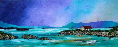 Barra Winter Croft, Isle Of Barra, Scottish Hebrides - A landscape by Scottish artist Andy Peutherer  (Open Edition Print )