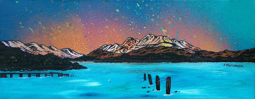 Ben Lomond from Cameron House Hotel, Loch Lomond, Scottish Highlands - A landscape by Scottish artist Andy Peutherer  (Open Edition Print )