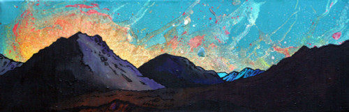Glen Etive Sunset, Scottish Highlands - A landscape by Scottish artist Andy Peutherer  (Open Edition Print )