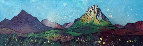 Glen Etive, Glencoe Summer, Scottish Highlands - A landscape by Scottish artist Andy Peutherer  (Open Edition Print )