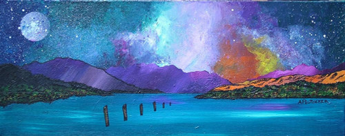 Loch Lomond Sunset From Luss, Scotland - A landscape by Scottish artist Andy Peutherer  (Open Edition Print )