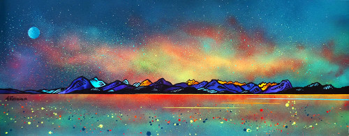 Milky Way Over Skye, The Cuillin from Applecross, Scottish Highlands - A landscape by Scottish artist Andy Peutherer  (Open Edition Print )
