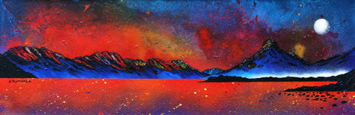 Pap of Glencoe Sunrise over Loch Leven, Ballachulish, Argyll, Scotland - A landscape by Scottish artist Andy Peutherer  (Open Edition Print )