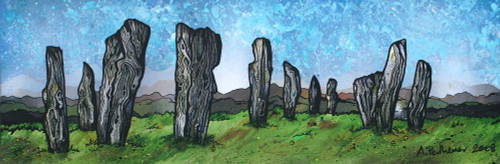 The Callanish Standing Stones, Calanais, Isle Of Lewis, Outer Hebrides, Scotland - A landscape by Scottish artist Andy Peutherer  (Open Edition Print )