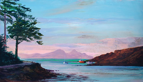 Sunset Over Rhum by Ronnie Leckie