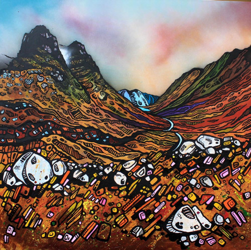 Elements Of Glencoe, The Three Sisters, Highland, Scotland - A landscape by Scottish artist Andy Peutherer  (Open Edition Print )