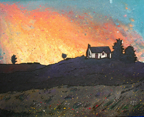 Isle of Skye Croft House, Scottish Hebrides - A landscape by Scottish artist Andy Peutherer  (Open Edition Print )