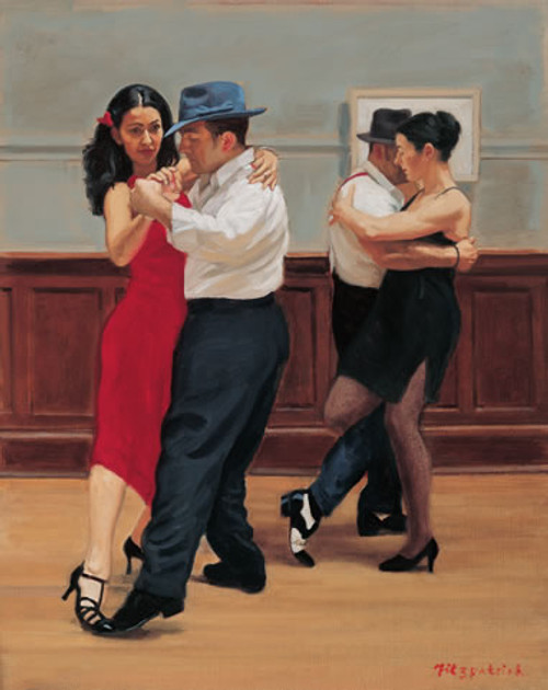 Tango Couples is an Open Edition dance print by Andrew Fitzpatrick