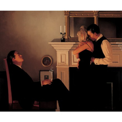 Beautiful Losers II Detail 1 is a Premium Print surreal, figurative print by Scottish artist Jack Vettriano