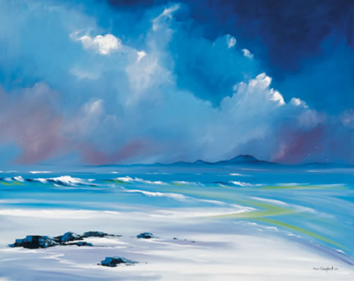 White Sands, Tiree is an Open Edition landscape print  by Scottish artist Daniel Campbell