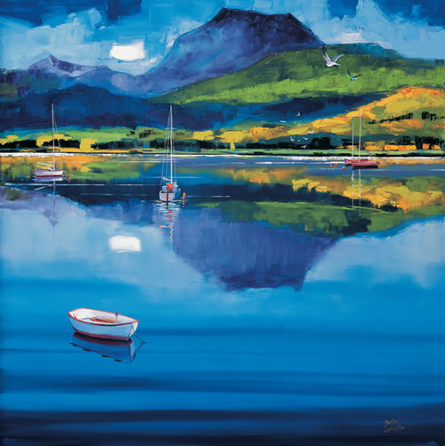 Ben Lomond is an Open Edition landscape print  by Scottish artist Daniel Campbell