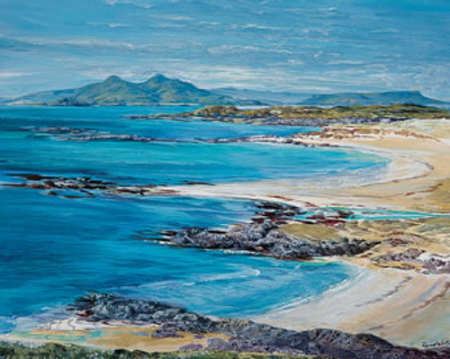 Ardnamurchan Sands is an Open Edition landscape print  by Scottish artist Ronnie Leckie