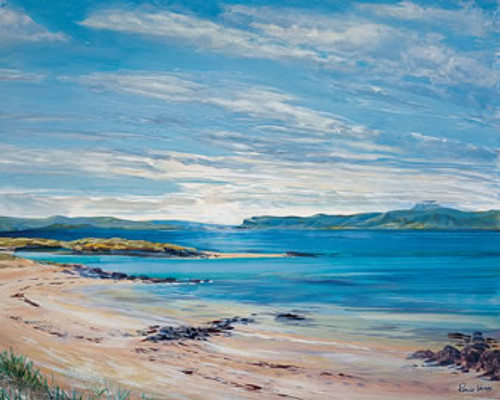North Sands, Iona is an Open Edition landscape print  by Scottish artist Ronnie Leckie