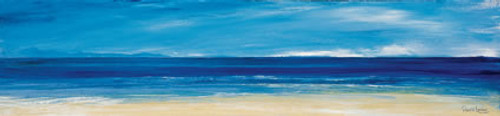 Aqua Blues I is an Open Edition landscape print  by Scottish artist Ronnie Leckie