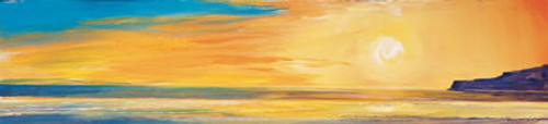 Golden Sunset I is an Open Edition landscape print  by Scottish artist Ronnie Leckie