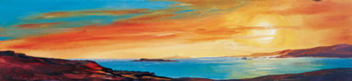 Golden Sunset II is an Open Edition landscape print  by Scottish artist Ronnie Leckie