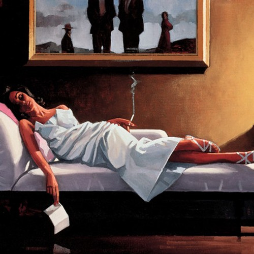 The Letter 1 is a Premium Print surreal, figurative print by Scottish artist Jack Vettriano