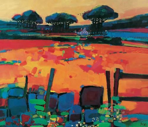 Evening, Cookney is an Open Edition landscape print  by Scottish artist Francis Boag