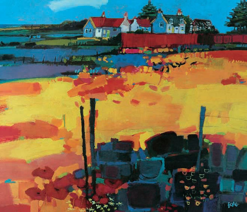 Hillhead is an Open Edition landscape print  by Scottish artist Francis Boag