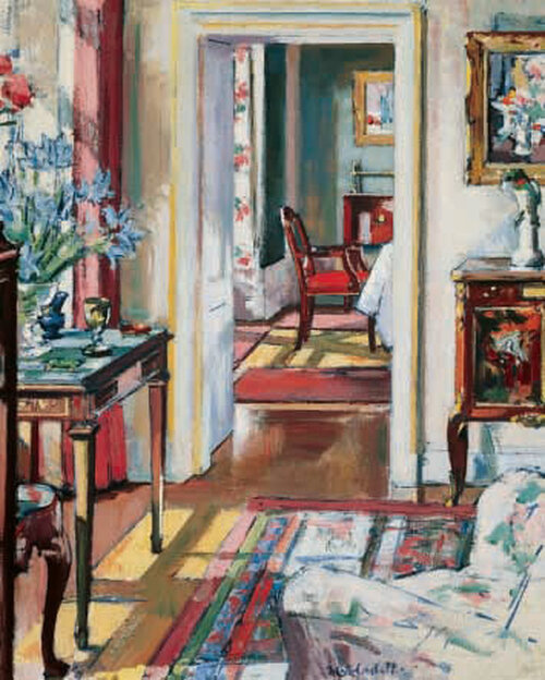 Interior, The Croft House is an Open Edition decorative print  by Scottish artist F.C.B Cadell