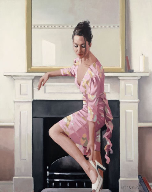 Model In Westwood (Limited Edition) by Jack Vettriano