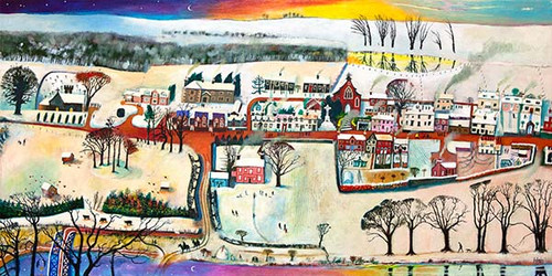 Village Life Winter by Rob Hain