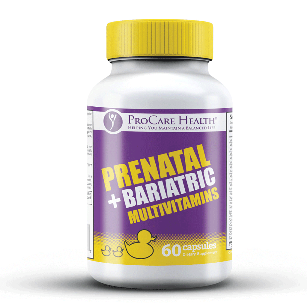 First and only Prenatal + Bariatric Vitamin specifically designed for those that have undergone bariatric surgery!