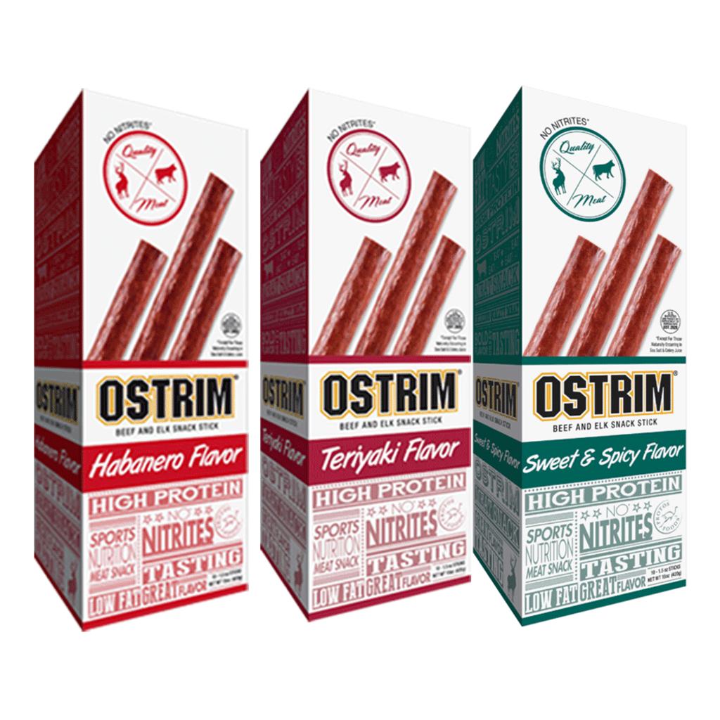 Ostrim - Beef & Elk Protein Sticks