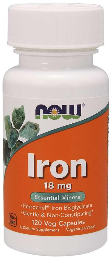 Now Foods | Iron 18 mg | Veg Capsules