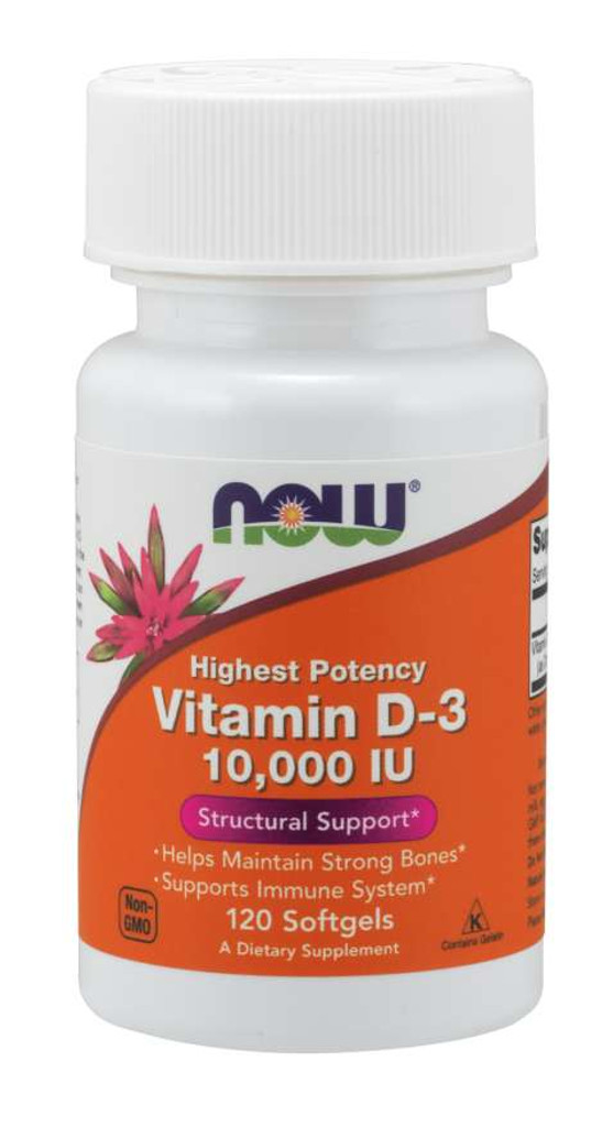 Now Foods | Vitamin D-3 10,000 IU | Softgels