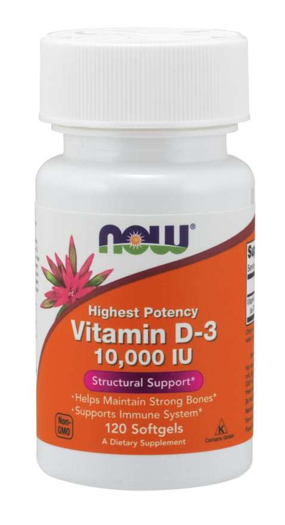 Now Foods   Vitamin D-3 10,000 IU   Softgels