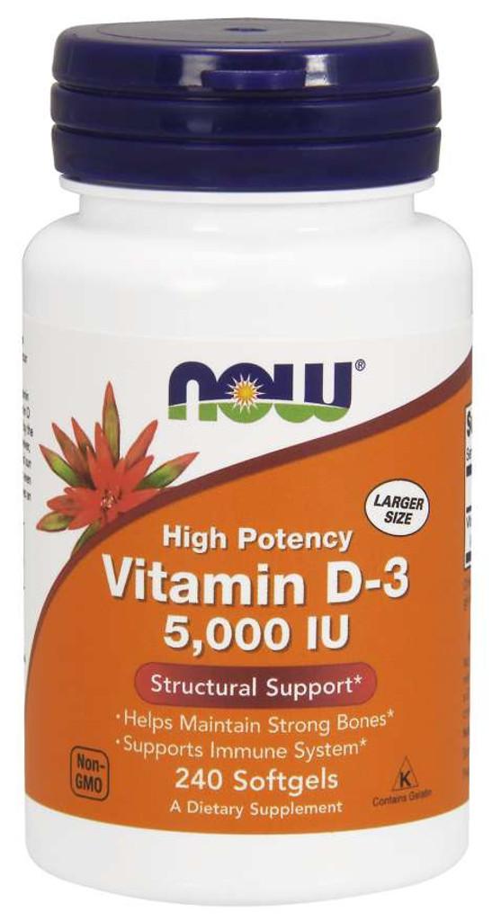 Now Foods | Vitamin D-3, 5,000 IU