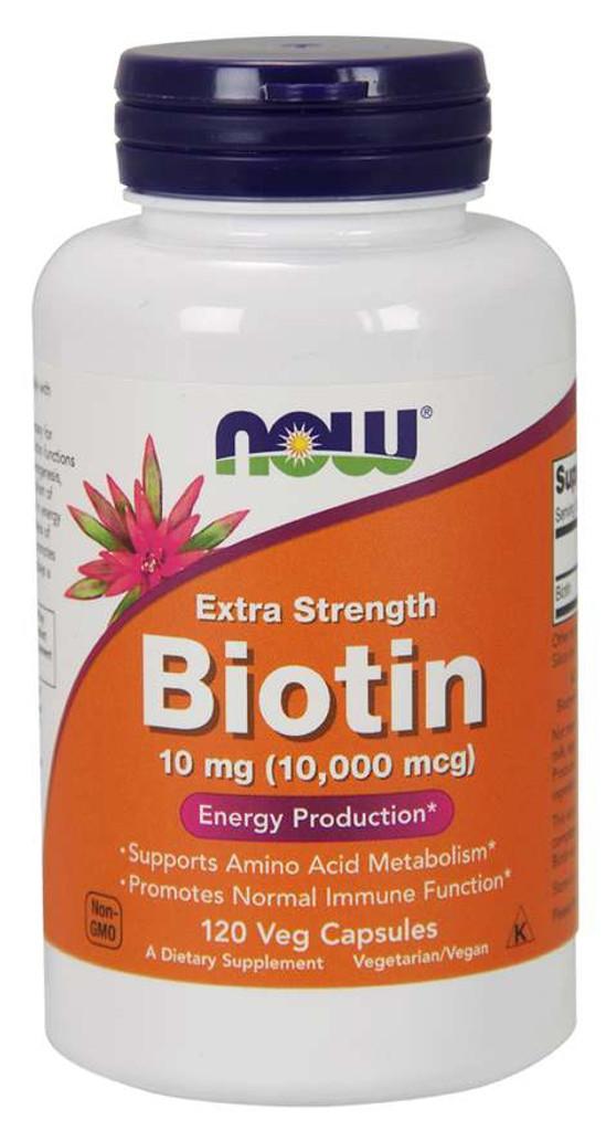 Biotin 10 mg (10,000 mcg) | Extra Strength | Veg Capsules