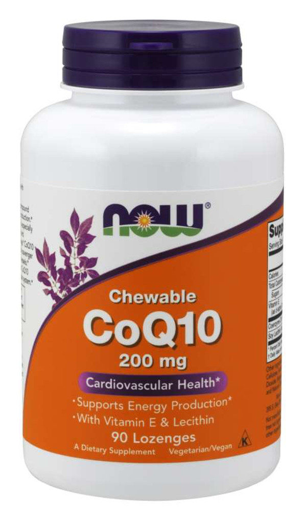 Now Foods | CoQ10 200 mg | Chewable
