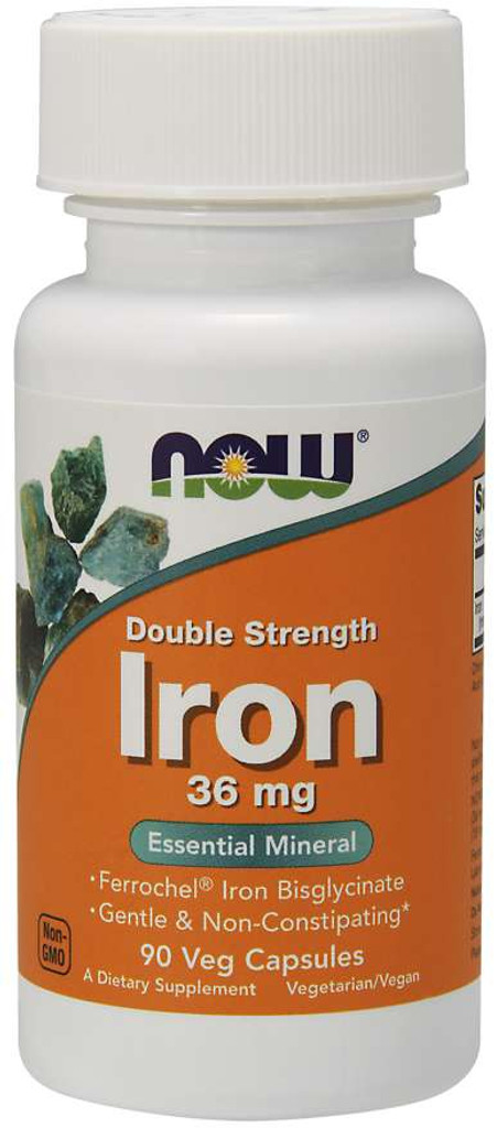 Now Foods | Iron 36 mg | Veg Capsules