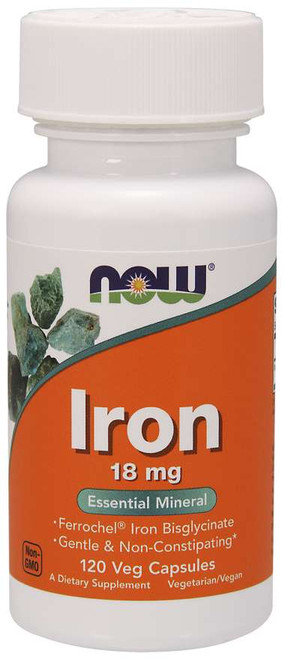 Now Foods | Iron 18mg | Veg Capsules