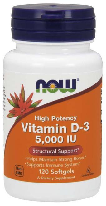 Now Foods | Vitamin D-3, 5,000 IU | Softgels