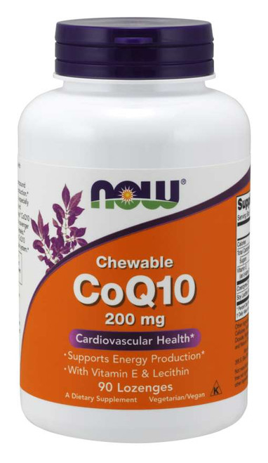Now Foods | CoQ10 200mg | Chewable