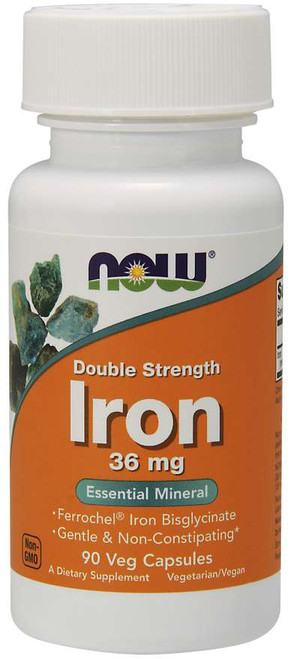 Now Foods | Iron 36 mg | Veg Capsules