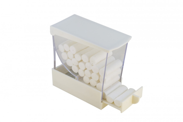 Cotton Roll Dispenser Deluxe White
