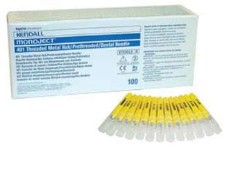 Monoject Needles 100/Pk 25/27/30G Metal Hub