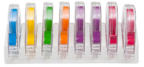 EZ ID Tape System Neon Assorted 8/Box