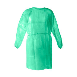 Disposable Isolation Gowns (Green 25/Pack)