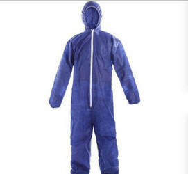 Polypropylene Disposable Coverall w/ Hood Size (Size S, 1/Pack)