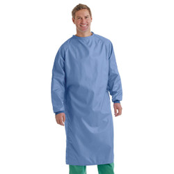 Washable Isolation Gown (Blue, 1/Pack)