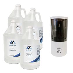 Liquid Hand Sanitizer 4 x 1 Gallon + 1 Auto Dispenser